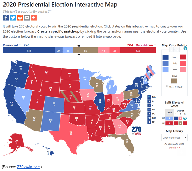 presidential election map 2020
